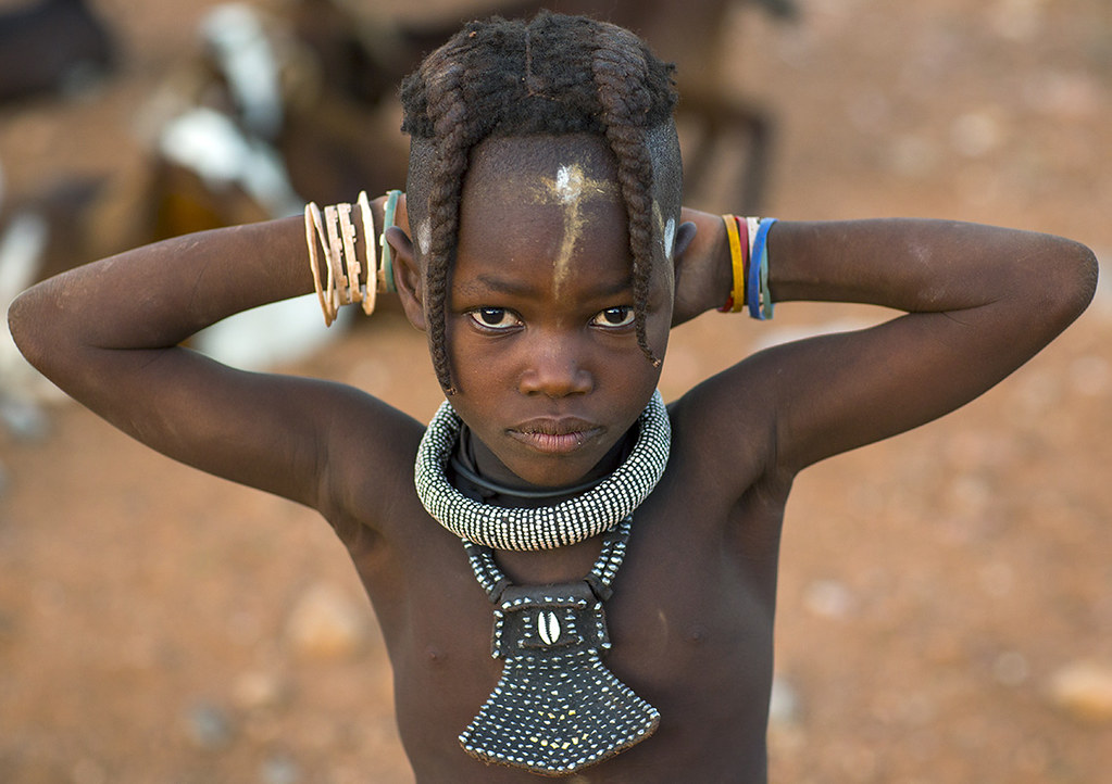 young african tribe girl Himba