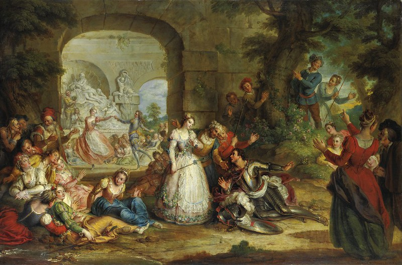 Charles-Antoine Coypel - Roland and the marriage of Angelique