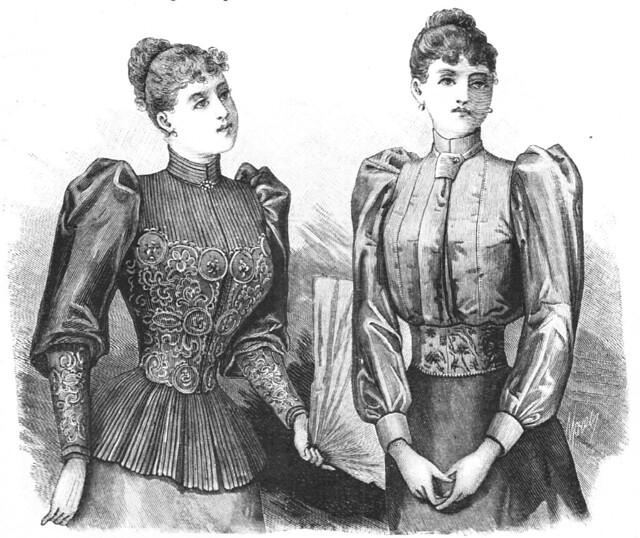 Chemisette de la robe avec jaquette, 1892