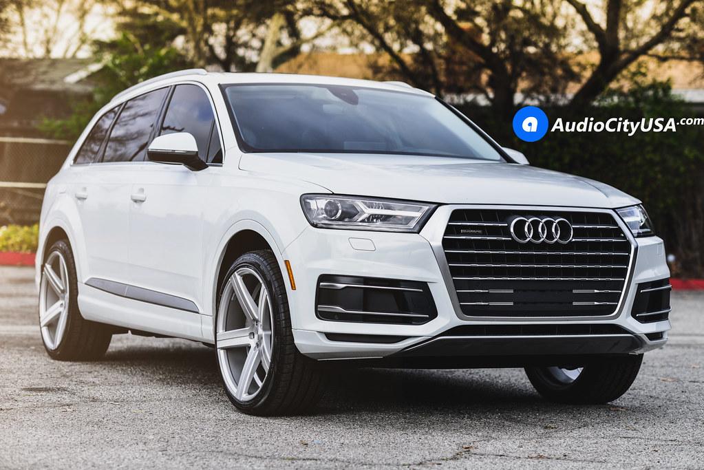 "2017 Audi Q7 | Dual Concave 22"" Varro Wheels VD05 Brush Silver | AudioCityUsa"