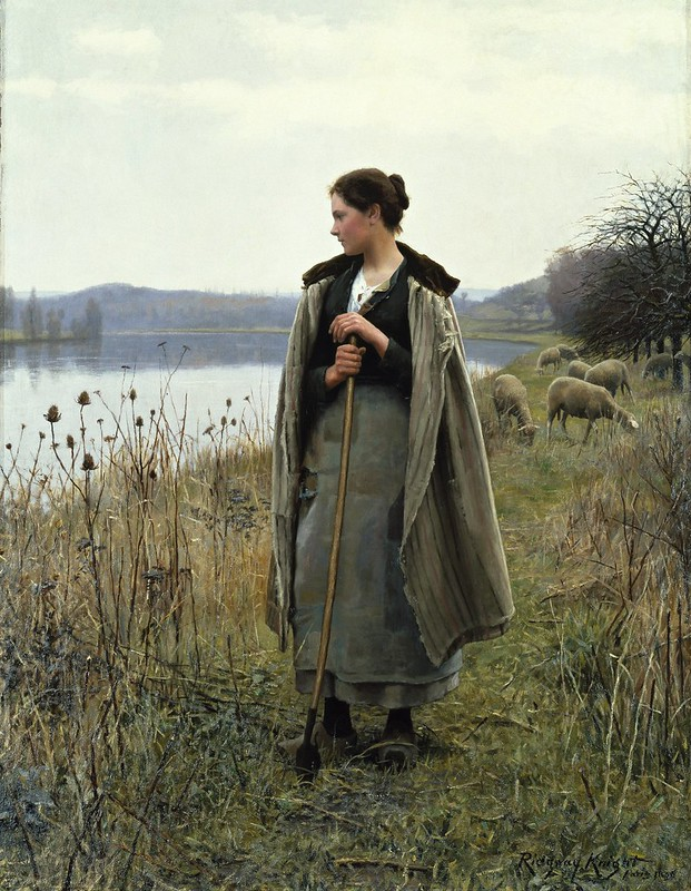 Daniel Ridgway Knight - The Shepherdess of Rolleboise (1896)