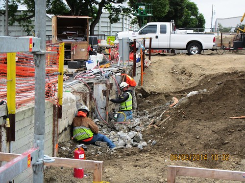 Chs Northwest Construction Crew Removing Soldier Piles And