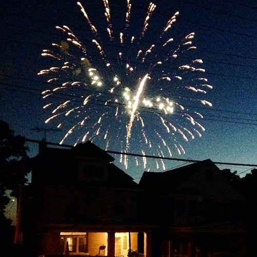 Went to Dormont for fireworks last night. They started as we were stepping out of the car. We realized we had a pretty good view where we were standing. | by Kelly D.