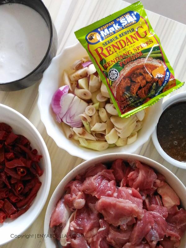 Rendang pedas utara, rendang daging pedas, resepi rendang daging, rendang mak siti, rempah mak siti, cara masak rendang