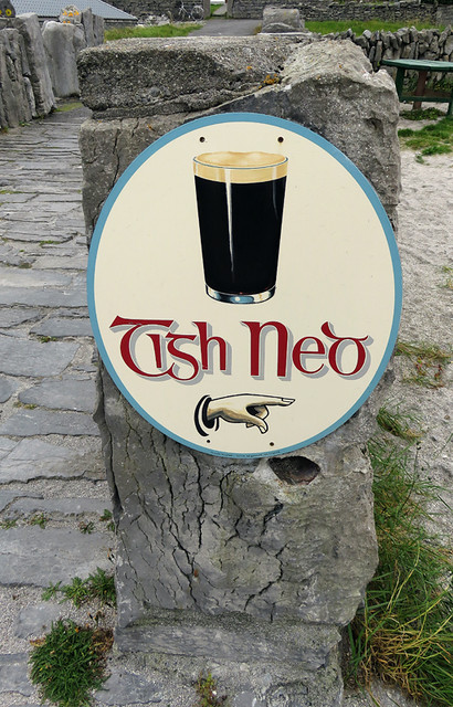 Tish Ned beer sign on the Aran Island of Inisheer