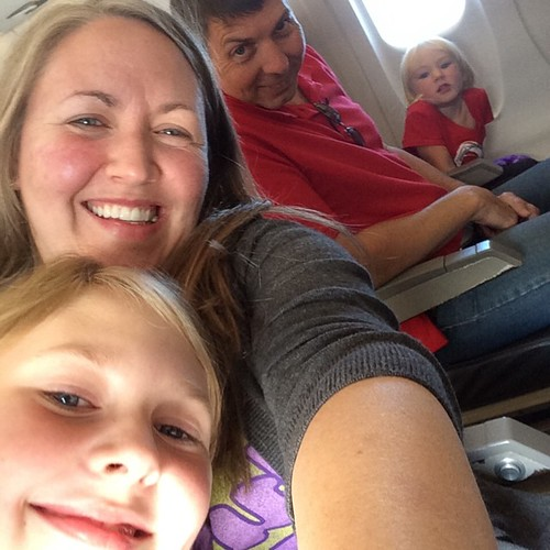 Family-on-the-plane selfie. | by bethany actually