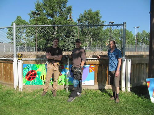 Rink Mural Installation | by strathconacentre.communityleague