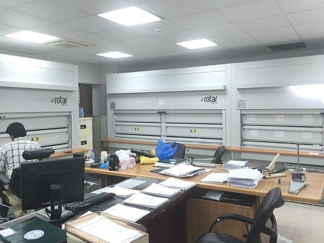 تخزين وأرشفة الوثائق الورقية