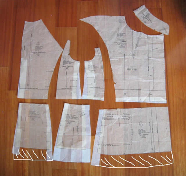 jacket pattern pieces