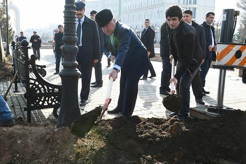 Иштирок дар ҳашари умумии ниҳолшинонӣ дар шаҳри Душанбе   08.03.2017