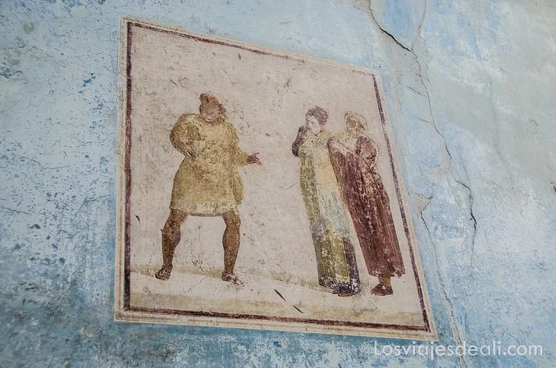 visita a Pompeya frescos de la casa del Menandro