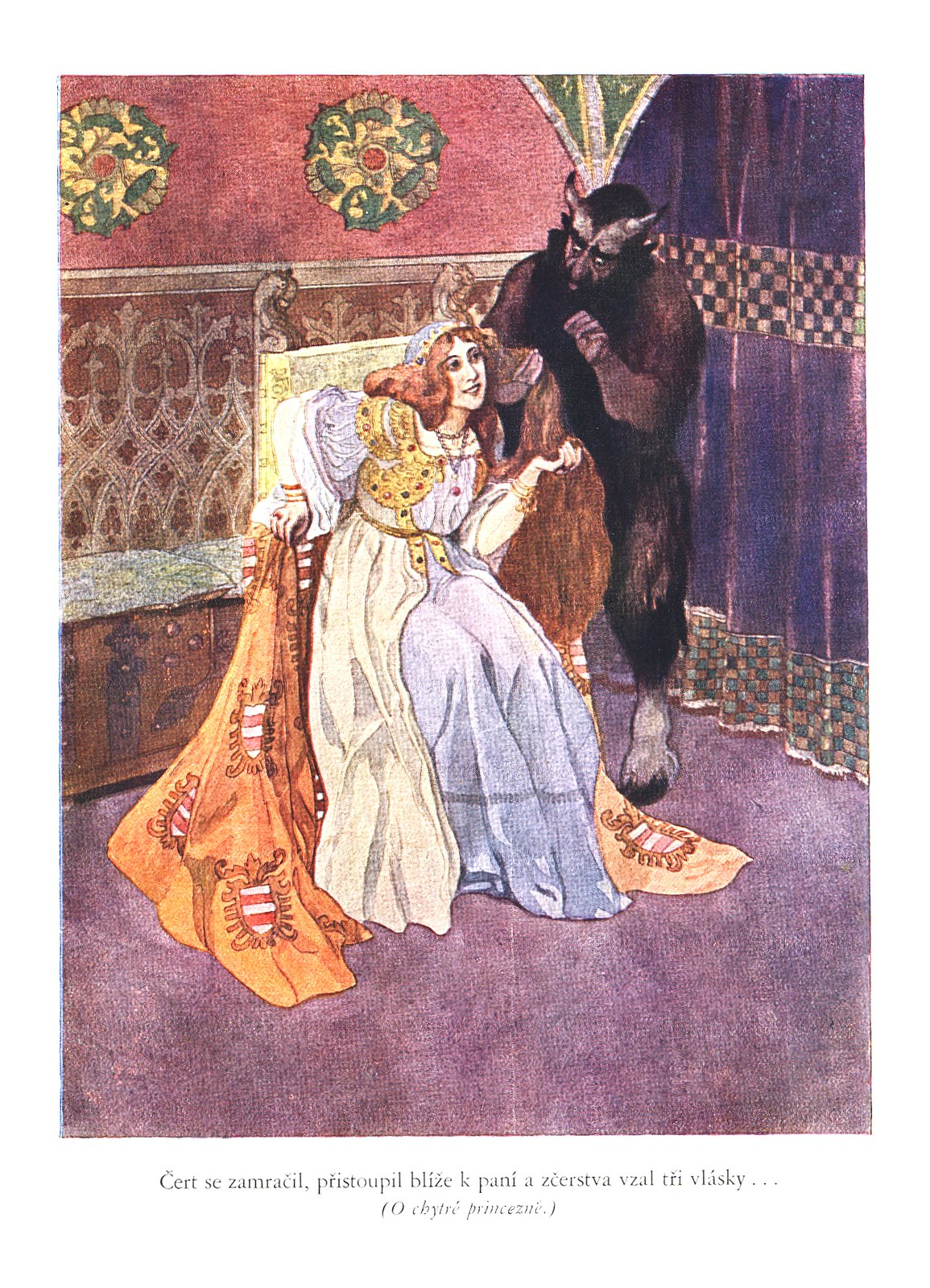 Artus Scheiner - Illustration (2) for Czech National Fairy Tale, from collection by Bozena Nemcova, 1913
