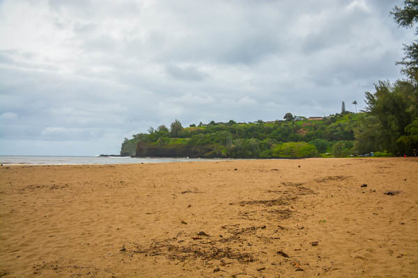 Sandy Beach in Kauai Hawaii
