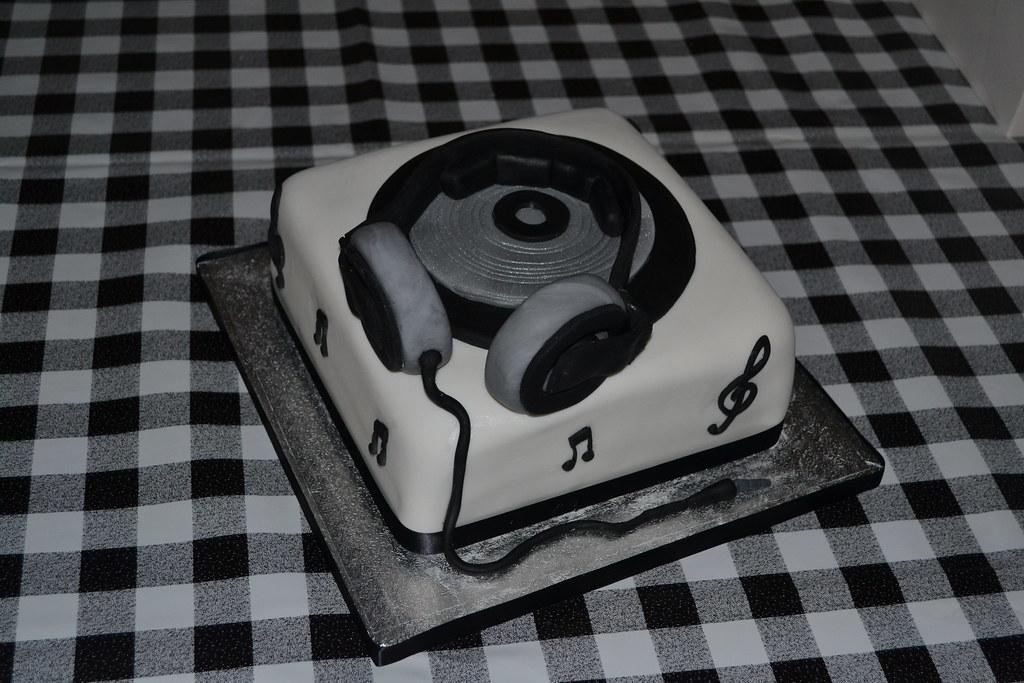 DJ deck themed birthday cake Julie Elliott Flickr