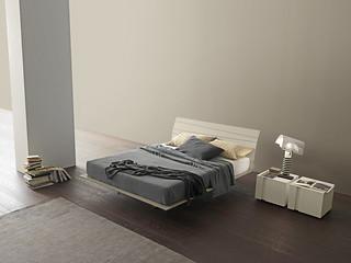 Presotto letti letto in legno tango wood beige seta for Valentini arredamenti