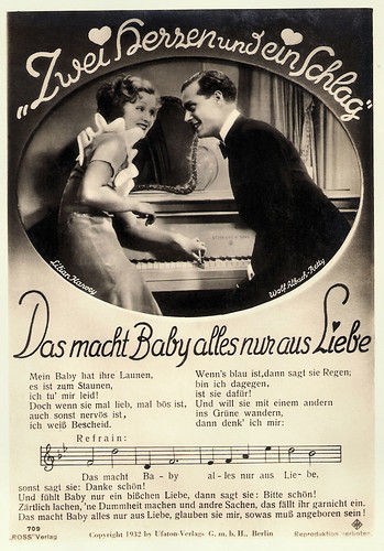 Lilian Harvey and Wolf Albach-Retty in Zwei Herzen und ein Schlag (1932)