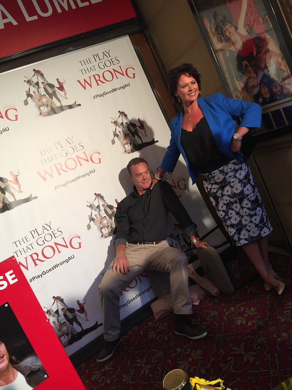 The Play That Goes Wrong opening night | Stefan Dennis