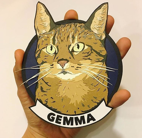 Paper Cat Portrait - Gemma