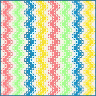 Scrap Zigzag | by Grey Cat Quilts