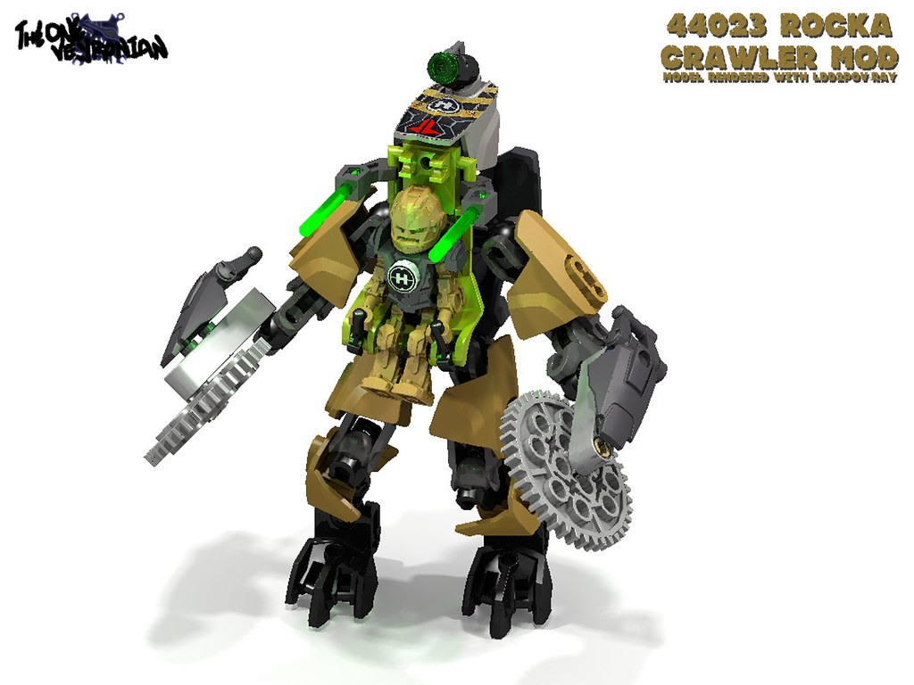 Lego Hero Factory Mod 44023 Rocka Crawler Render Flickr