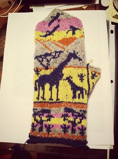 Body of left Giraffe Mitten done! MIL is going to love these! | by BlueDragon2