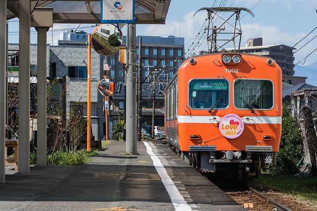 吉原行きの岳南電車
