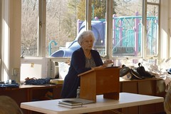 Barbara Johnson, co-chair of the Program Committee, introducing speaker the Reverend Dr.David Mulford-Clevelands_0010
