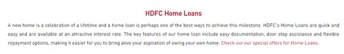 HDFC home loan status