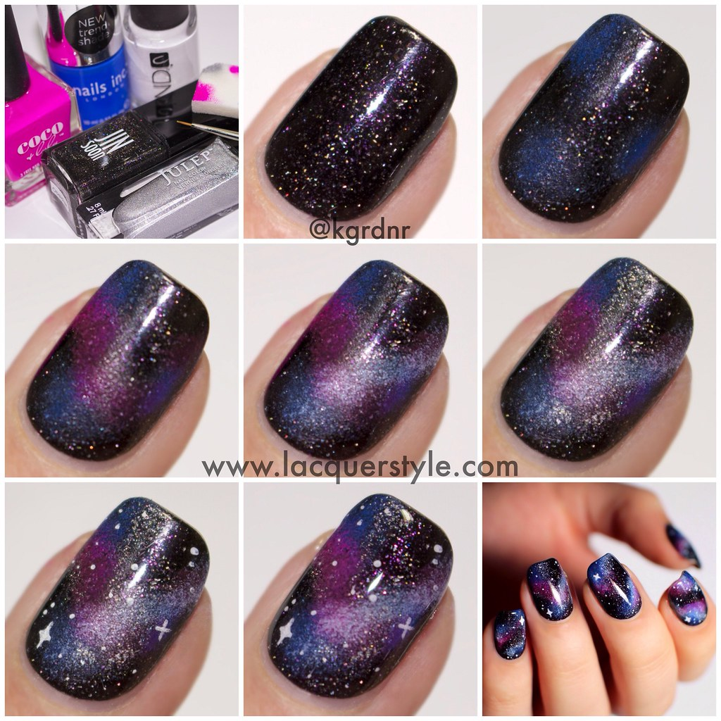 Galaxy-Nails-Tutorial-Simple-Realistic | Simple, realistic g… | Flickr