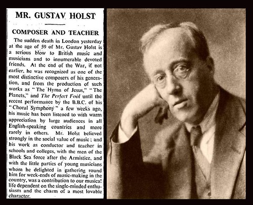 29th May 1934 - Death of Gustav Holst | by Bradford Timeline