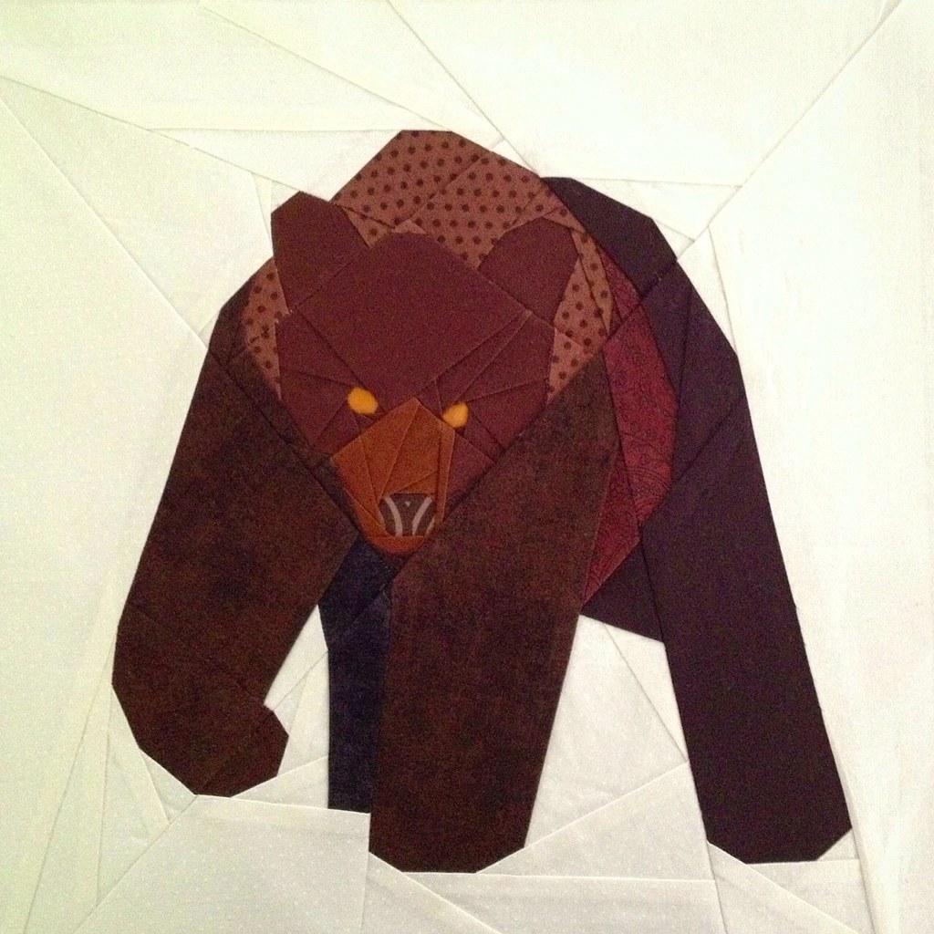 Paper Pieced Bear Quilt Block Pattern By Tartankiwi Flickr