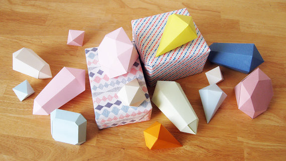 paper crystal templates created by joop bource of etsy sho flickr