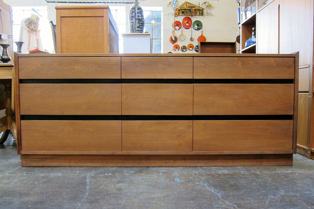 ... Dillingham Esprit 9 Drawer Walnut Lowboy Dresser | By Sheep Chase  Vintage