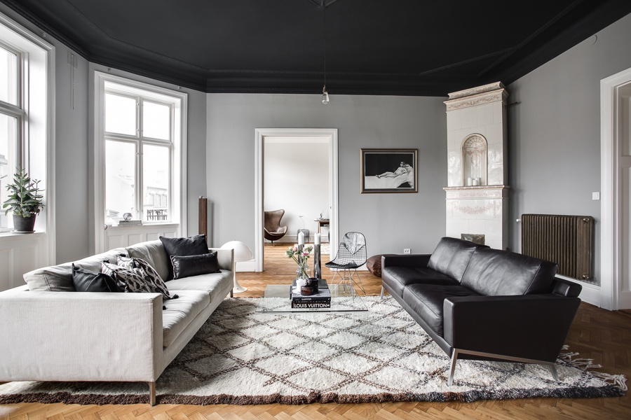 Dark and Classy Scandinavian Home