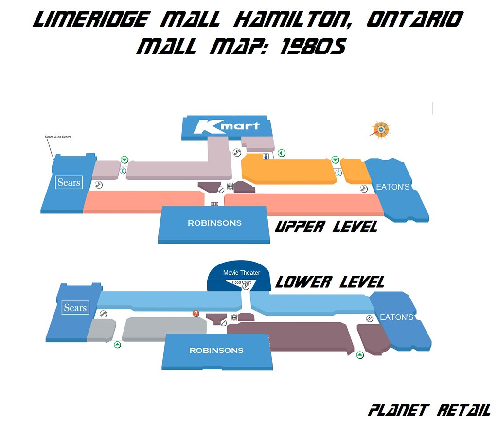 Limeridge Mall Map Lime Ridge Mall Floor Plan (1980s) | This is a floor plan th… | Flickr Limeridge Mall Map