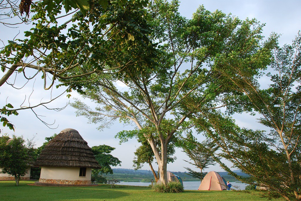 Tented camp on the River Nile, Uganda