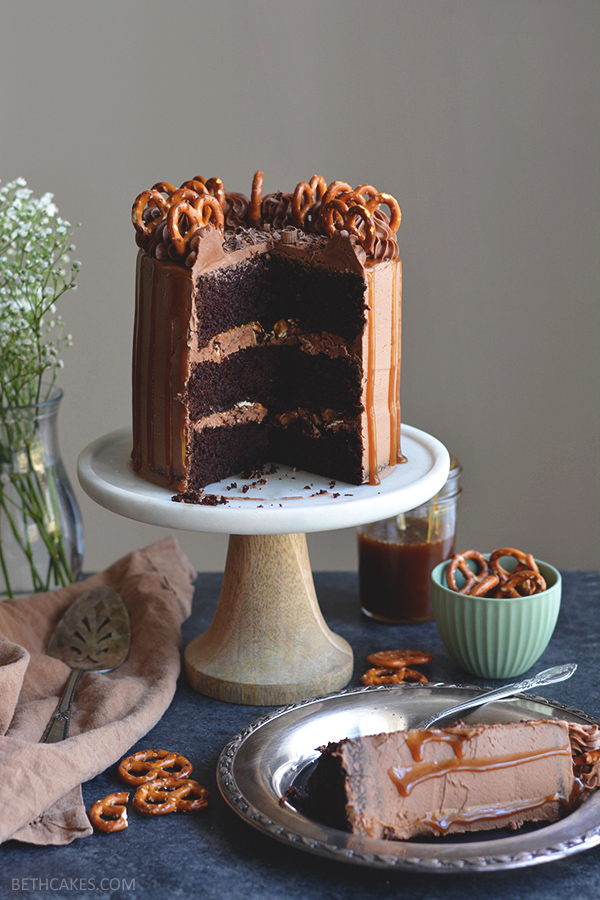 Sweet & Salty Chocolate Stout Cake - bethcakes.com