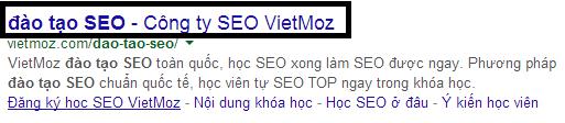 Thẻ tiêu đề hiển thị trên trang kết quả tìm kiếm