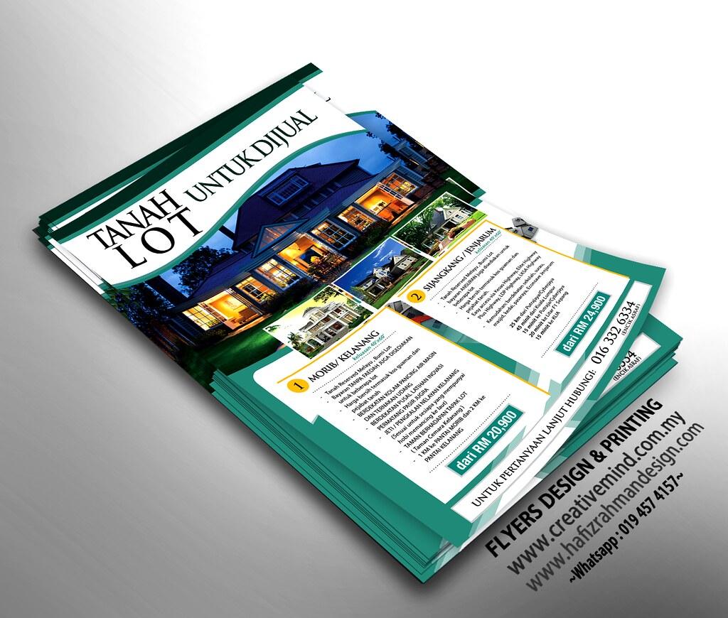 mockup flyers design tanah lot by hazrilhafiz