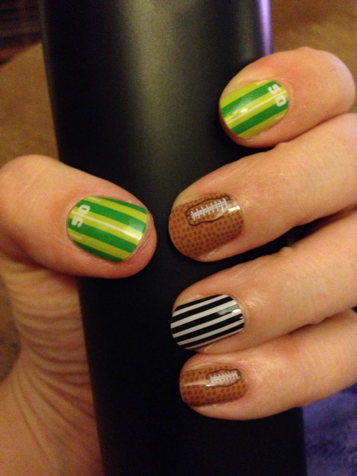 Jamberry Nail Wraps - End Zone | Are you ready for some FOOT… | Flickr