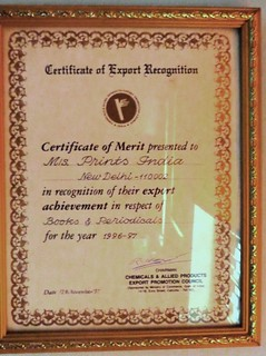 Certificate of Export Recognition (1996-97) | by printspublications