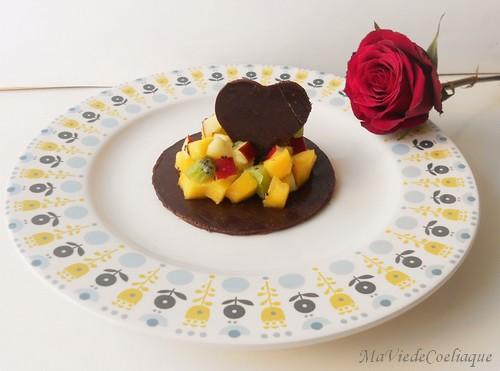 tartare de fruits frais au chocolat sans gluten