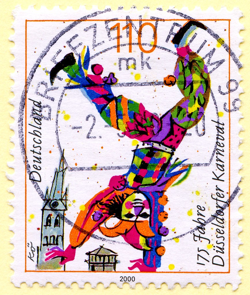 Great Stamp Germany 110pf Clown 175th Anniversary Of Dus Flickr