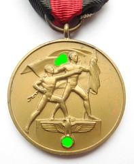 1938 German Sudetenland Medal obverse