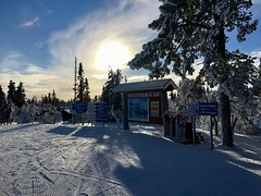 It was a beautiful day for skiing at Klövsjö!