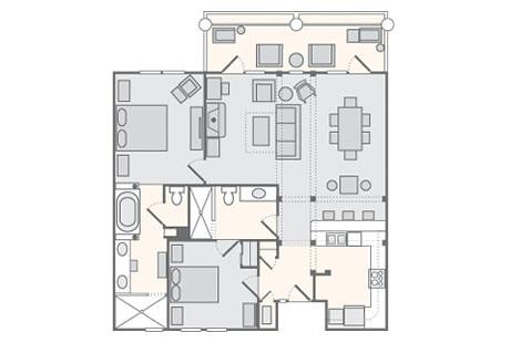 Bluegreen wilderness club at big cedar 2 bedroom concier for Fort wilderness cabins floor plan