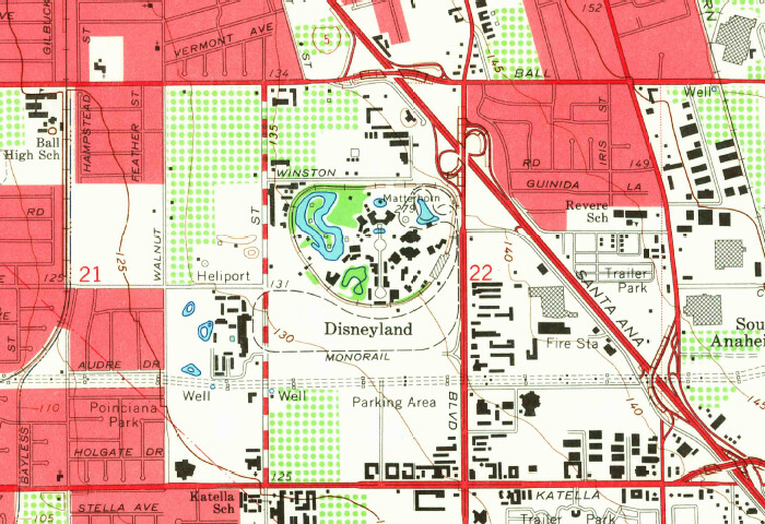 We Celebrate The Opening Of Disneyland On This Day In Flickr - Us geological topographic maps