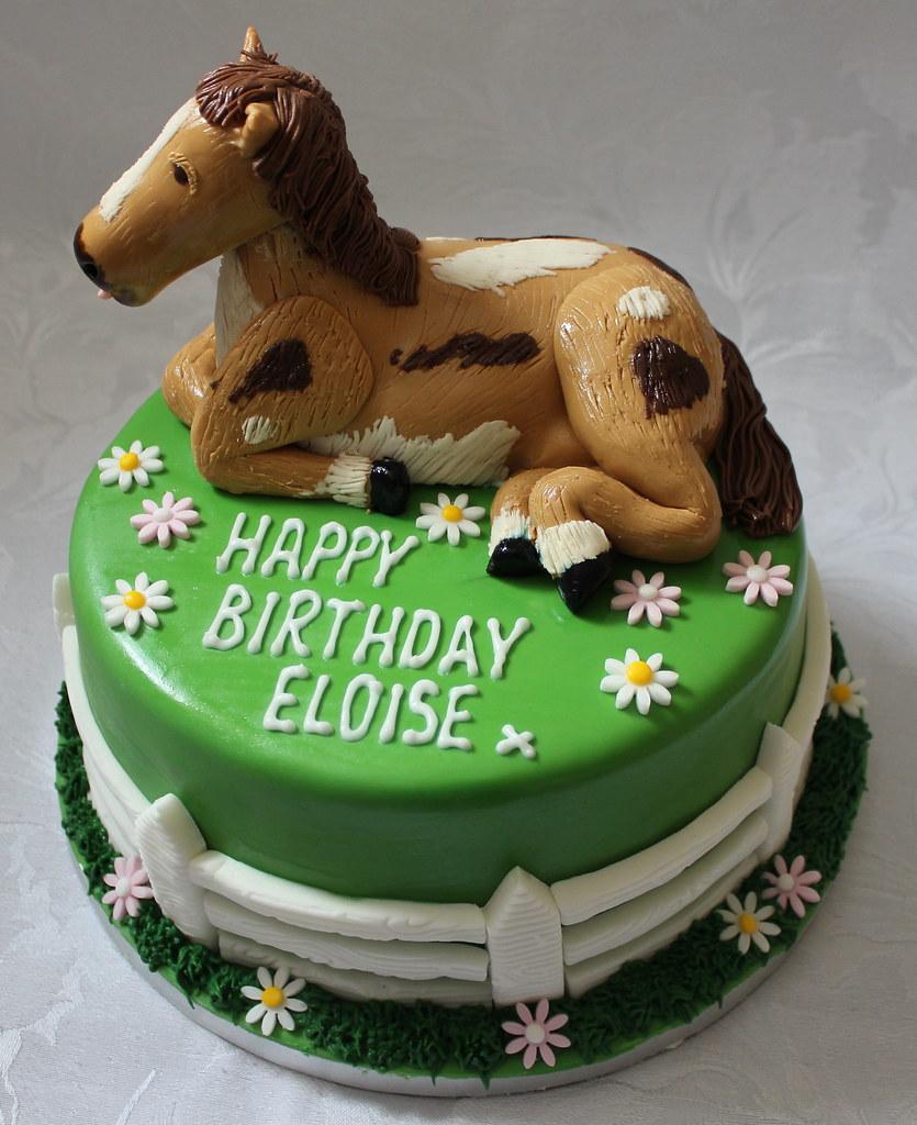 Horse Themed Birthday Cake Pauls Creative Cakes Flickr