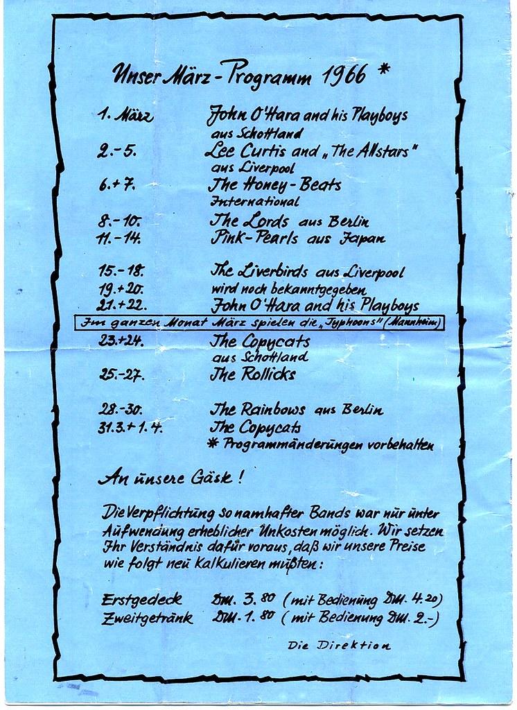 Ringstuben - Programmheft - März 1966 - Seite 11 - Heft Rü… | Flickr