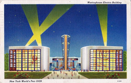 The 1939 New York World's Fair (Motto - The World Of Tomorrow) - Pictured Is The Westinghouse Electric Building With A 150-Foot Tower At The Center | by France1978
